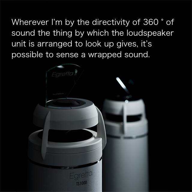 Omni-directional bass reflex tower type loudspeaker TS1000